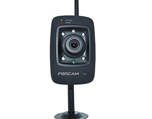 Foscam FI8909W-BLACK IP-Kamera (640 x 480 Pixel) schwarz