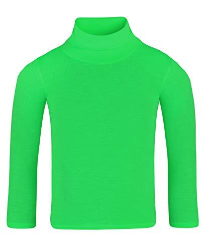 LotMart - Camiseta de Manga Larga - para niña Negro Verde 9-10 Años