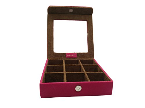 Essart Vanity Makeup and Jewellery Box, Earring Box, Jewellery Makeup Vanity Mutli Purpose Box, Makeup & Cufflinks Box, Cufflinks Box Vanity Jewellery Case, Jewelry Box - Pink