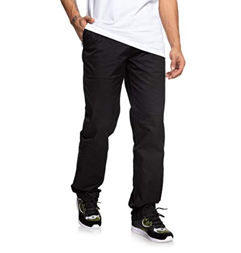 DC Shoes Worker - Relaxed Fit Chinos for Men - Chinos - Männer - 32 - Schwarz Relaxed Fit Chinos