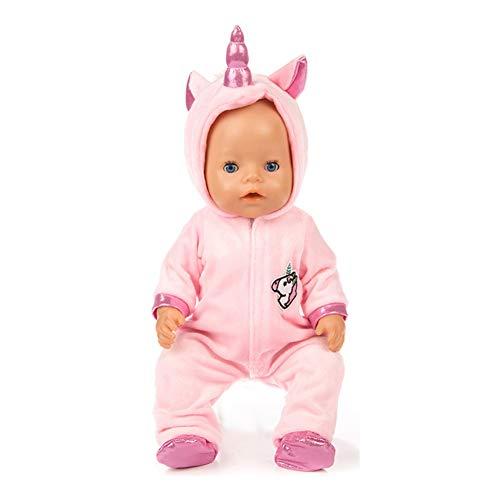 Muñecas American Girl Unicornio Mono Establece Creativo Del Caballo Del Patrón Ropa De La Muñeca Con Los Zapatos De Las Muñecas Del Bebé Kit Regalo De La Decoración De Navidad Ropa 1set Rosa