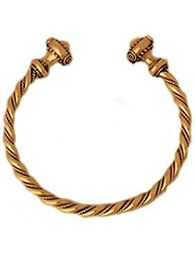 Hochwertiger Keltischer Armreif aus Bronze, gekordelt Armkette Bronzearmband Gothic Halsband LARP Kette Wikinger