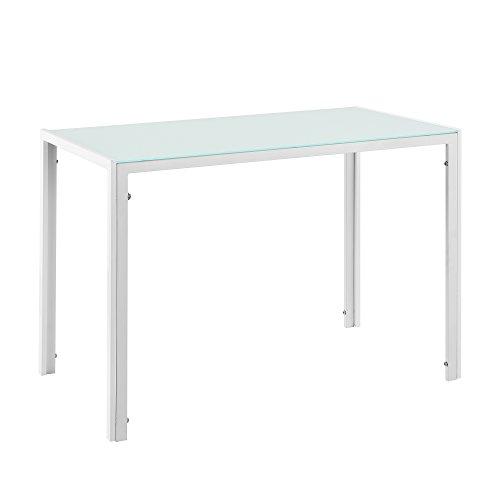 [en.casa] tavolo da pranzo con piano tavola di vetro bianco