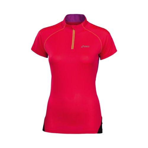 Asics 1/2Zip Manica Corta da Donna Fuji, donna, Diva Pink, (Asics Womens Shirt)
