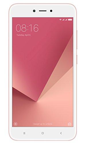 """Xiaomi Redmi Note 5A - Smartphone libre de 5.5"""" (4G, WiFi, Bluetooth, Snapdragon 425 1.4 GHz, 16 GB de ROM ampliable, 2 GB de RAM, cámara de 13 Mp, Android MIUI, dual-SIM), oro rosa [versión española]"""