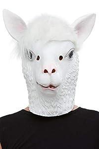 Smiffys 50879 - Máscara de látex para hombre, color blanco