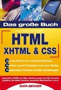 Das große Buch HTML, XHTML & CSS Buch-Cover