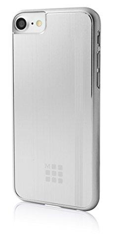 Moleskine Spazzolato Metallico del Telefono Elastico e Logo per Apple iPhone 7–Argento