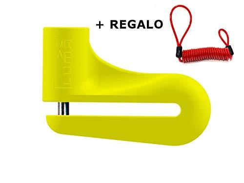 LUMA - Candado Disco LUMA Enduro 73D Amarillo Pin de 5 mm. + Cable Antiolvido de Regalo