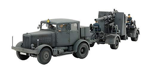 Tamiya 37027 37027-1:48 Zgm. Flak37 SS-100 - Juego de construcción de maqueta (88 mm, plástico, sin lacar)