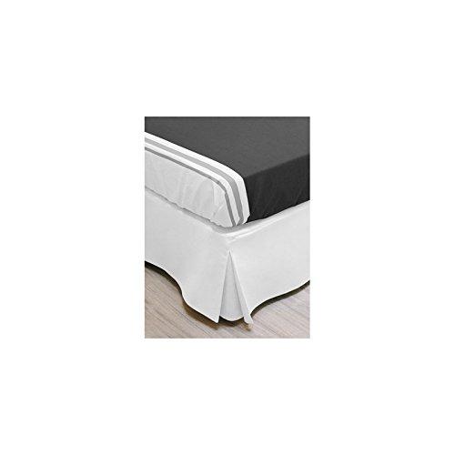 Soleil d'ocre - 987063 - Cache-Sommier - 160 X 200 cm - Blanc
