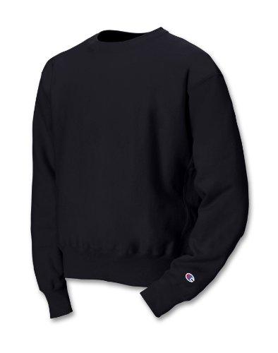 champion-sweatshirt-82-baumwolle-18-polyester-reverse-weave-rundhalsausschnitt-gr-m-schwarz