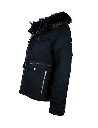 KHUJO Herren Winterjacke Parka Fieldjacket Navy
