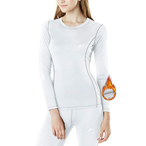 MeetHoo Thermounterwäsche Damen, Funktionsunterwäsche Set Funktionswäsche Thermoaktiv Thermowäsche Base Layer Skiunterwäsche Skifahren Laufen
