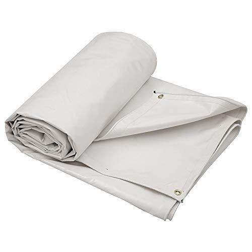 Weiße, Strapazierfähige PVC-Plane, Wasserdicht, Ideal Für Planen-Zelt, Boot, Wohnmobil Oder Poolabdeckung (größe : 6M×5M)