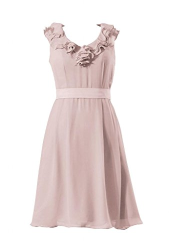 daisyformals courtes col en V robe de demoiselle dhonneur en mousseline VINTAGE Party robe (bm245) Rose - #18-Dusty Rose