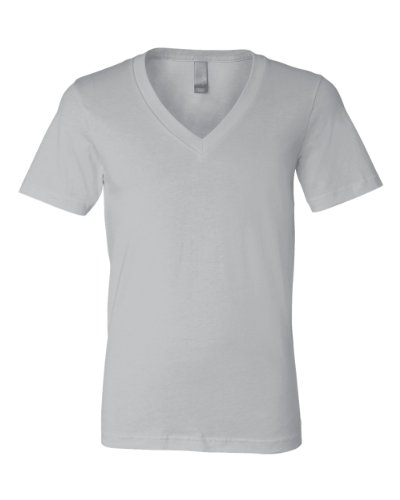Bella+Canvas: Unisex Jersey Deep V-Neck T-Shirt 3105 Silber