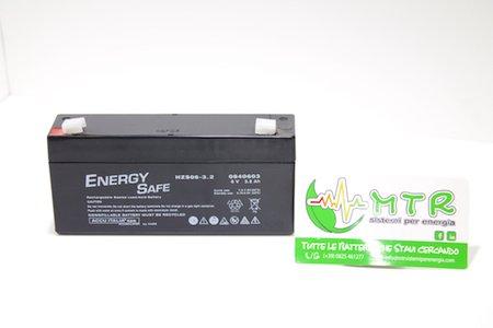 Batteria al piombo Energy Safe 6V 3.2 Ah (barretta)