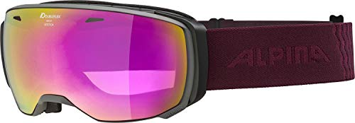 ALPINA Damen Estetica MM Skibrille, Grey-Cassis, One Size