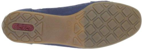 Rieker 41056-15, Mocassini donna Blu (Blau (pazifik 15))