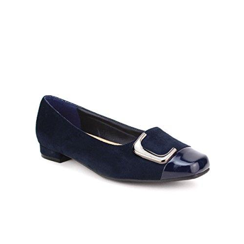 Cendriyon, Ballerine simili peau Bleu BELLELI Chaussures Femme Bleu