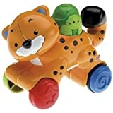Fisher-Price Amazing Animals Press & Go Cheetah w/ Unique clicking part & A Exciting Toy for Baby Jouets, Jeux, Enfant, Peu