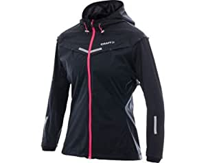 Craft - Craft Elite Run Weather Jacket Veste Noir/Rose - M