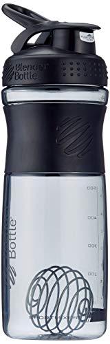 BlenderBottle Sportmixer Tritan Shaker | Protein Shaker | Wasserflasche | Diät shaker Fashion Black (28oz / 820ml)
