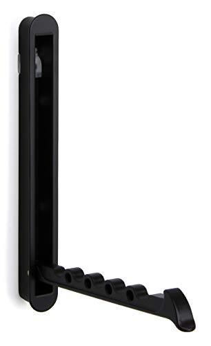 Moderno Wandpaneel-Kleiderhaken Auf-Klappbar Ganchos para Ropa Negro Gancho Plegable - Mital 140 X 16/128mm Gancho de la Pared para para Enganche & Tornillos 1 Pieza -garderoben-bügelhalter Sumergible
