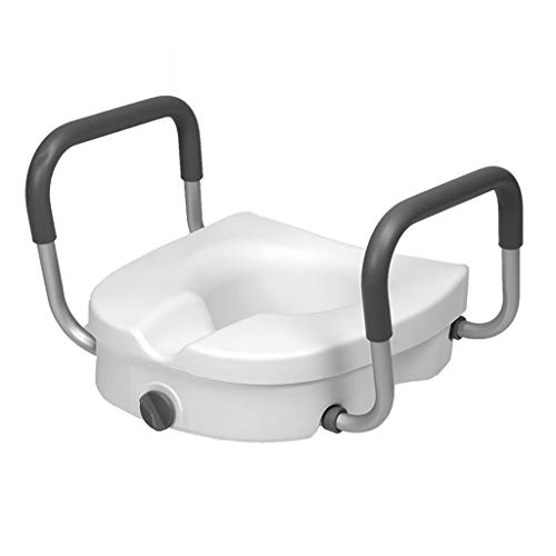 Cheng-Badehocker WC-Booster abnehmbare Armlehne rutschig Schwangere ältere Sitzauflage Stuhl (weiß)