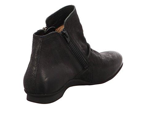 Think Womens Keshuel Leather Boots Black Kombi