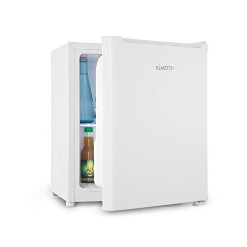 Klarstein Snoopy Eco - Mini réfrigérateur avec congélateur, Capacité de 46L, Compartiment congélateur 4L, 41dB, Économe en électricité, Blanc