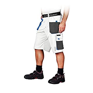 Arbeitshose Kurz L-XXXL Arbeitsbundhose Bermuda Shorts Arbeitskleidung Bundhose weiß XXL