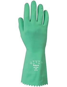 Polyco 326–8Optima chemikalienbeständig Flock Gefüttert Handschuhe, 1Paar, Größe 8/Medium, Grün