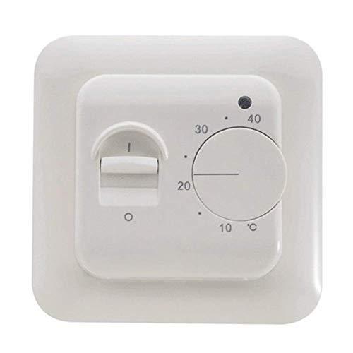 Paletur88 Thermostat Zimmer Unterboden Analog Warm Doppel Nicht Programmierbar Mechanischer Heizung Temperatur Controller Universal Schalter Regler Elektrisch Manueller Instrumente