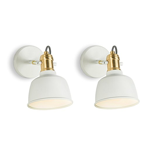 Applique Murale Lampe de chevet Chambre Liseuse Salon Hall d'entrée Escaliers Mur Nordique ( Couleur : Blanc )