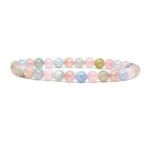 natural-morganite-beryl-aquamarine-gemstone-6mm-round-beads-stretch-bracelet-7-unisex