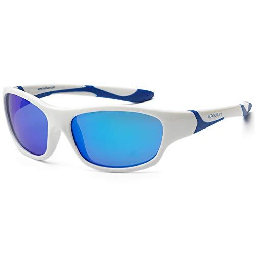 Koolsun - Sport - Kinder Sonnenbrille - white royal blue - 6+ (6-12 Jahre)