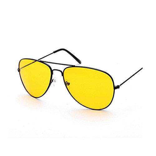 TUDUZ Nachtsicht Flieger Retro Sonnenbrille/Myopie Brillen Lünette für Männer und Frauen UV400 Gläser für Fahrer (Schwarz-A)