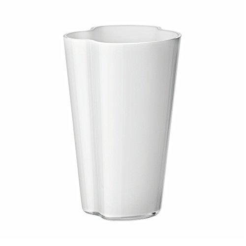 Iittala Aalto Vasen, Glas, Opal Weiß, 6 x 10 x 22 cm