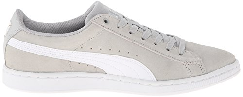 Puma Womens Vikky Leather Trainers Gray Violet/White