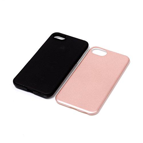 Voguecase Pour Apple iPhone 7 4,7, [TPU+PC]Coque de protection double couche pour Apple iPhone 6/6S 5,5, Absorption des chocs améliorée, Ajustement Parfait Coque Shell Housse Cover (2 in 1-Rouge)+ Gra 2 in 1-Rose Or