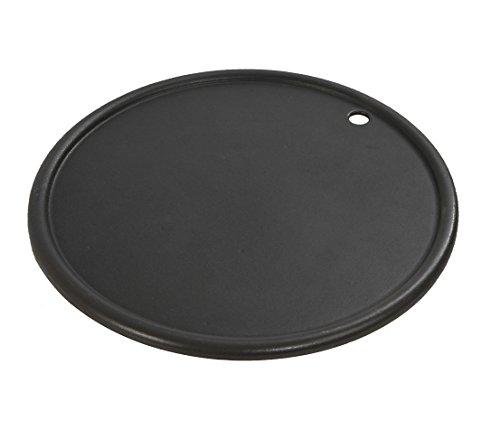Dehner - lato scanalato e liscio, Ø 30,5 cm, in ghisa, nero