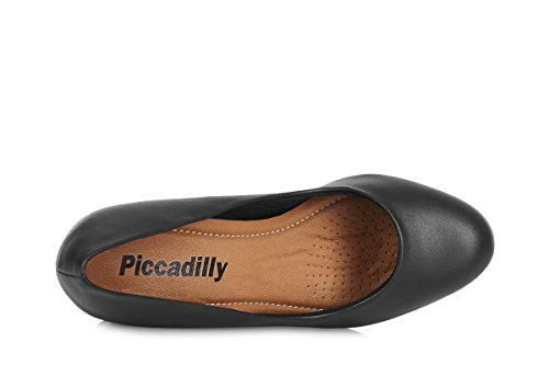 Piccadilly 690074 HIGH Heel Crew Shoe/Cabin Shoe with Padded Insole for Extra Comfort (41, Black)