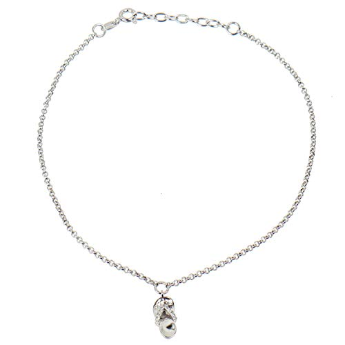 Pfeffinger-Damen Fußkette aus Silber 925 mit Anhänger Flip Flop und Zirkonia