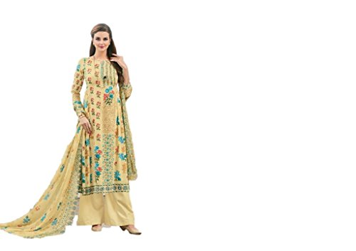 Nishas Closet (Nishas Wardrobe) Latest unstitched Jam Silk Cotton dress material (salwar...