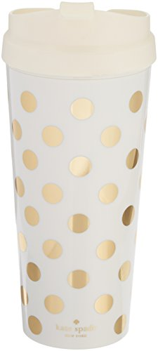 Price comparison product image Kate Spade New York Thermal Mug, Gold Dot, , Gold/Dots