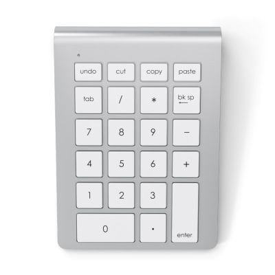 Satechi Teclado Numérico Bluetooth Inalámbrico de Aluminio para iMac MacBook Laptop PC Compatible con Sistemas de Windows y OS X (Plata)