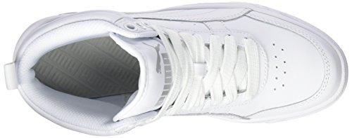 Puma Rebound Street V2 L Jr, Sneakers Basses Mixte Enfant Blanc (White-white)