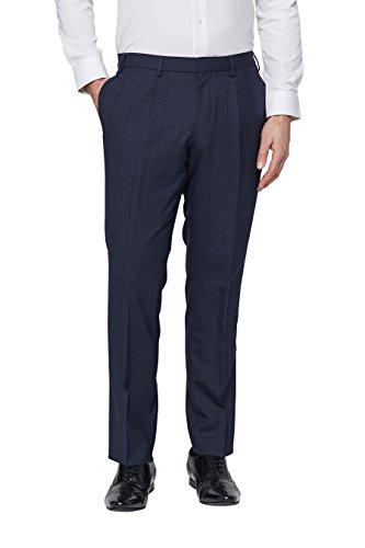next Homme Pantalon De Costume Slim À Carreaux Bleu
